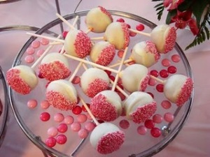 Cake pops are a hot, new trend for modern weddings.