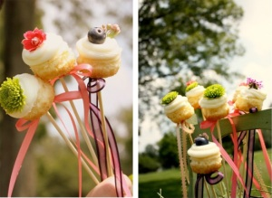 Cupcakes are a fun, whimsical choice for wedding desserts.